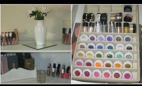Makeup Organization Cleaning + Storage | Beauty Room | Bedroom