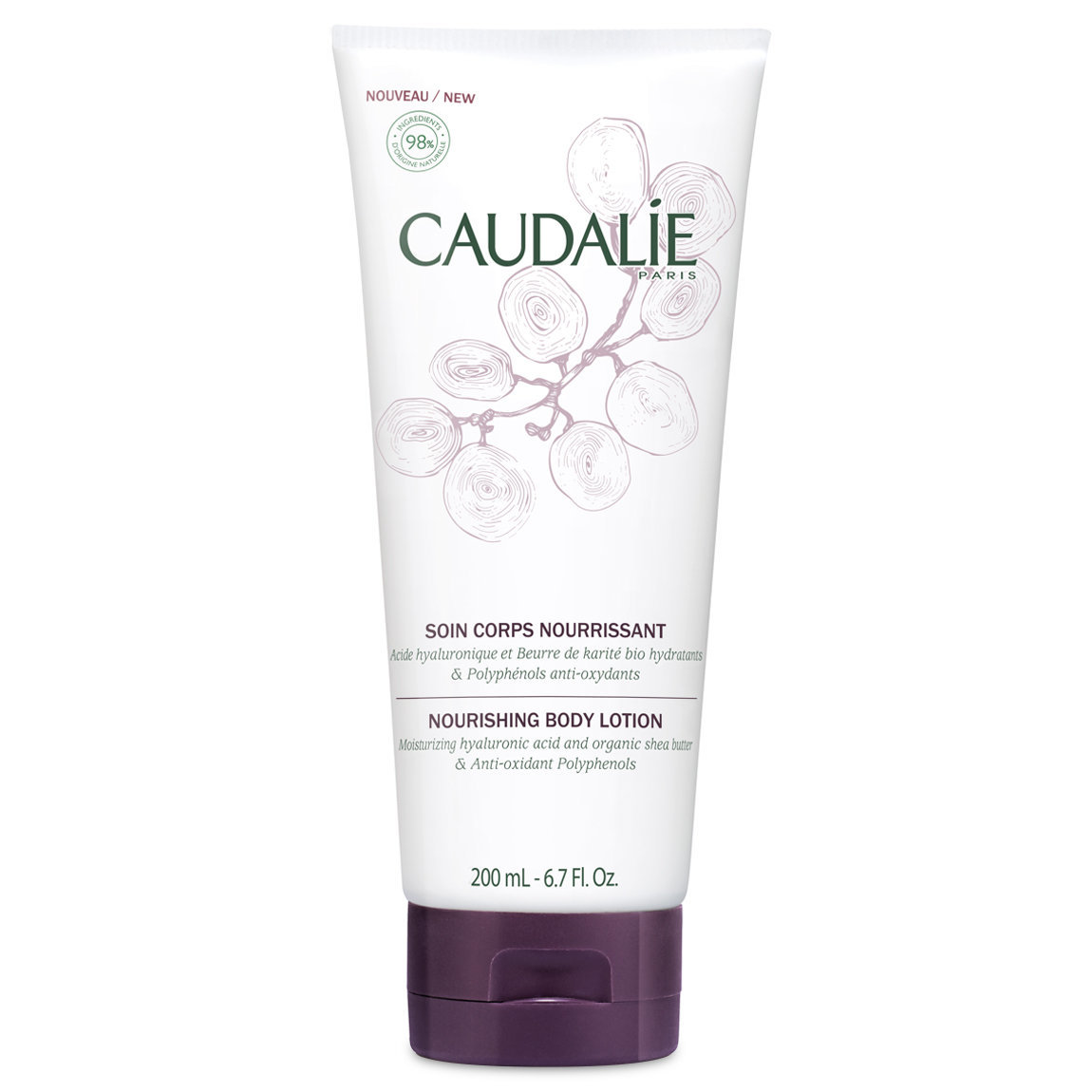 Caudalie Nourishing Hyaluronic Body Lotion product swatch.