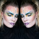 Halloween Alien Inspired makeup