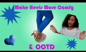 OOTD and How-to Make Your Heels Comfortable with Dr. Scholl's® For Her Ball of Foot