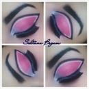Pink dramatic eyes