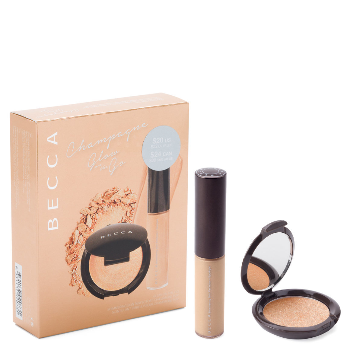 BECCA Shimmering Skin Perfector Champagne Pop Glow On The Go product smear.