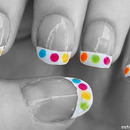 Color Dot French Tip Nails
