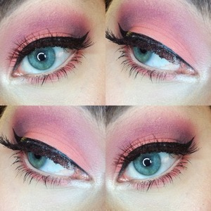 quick valentines look before class using @sugarpillmakeup heartbreaker palette + bh 120 palette + ardell wispies