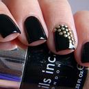 Black Studded Nails