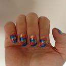 plaited nail design