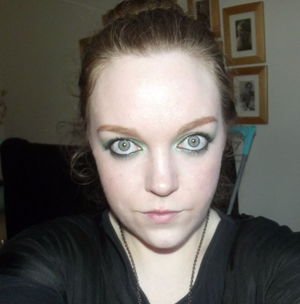 This is the make up I wore for St. Patrick's day. I am a quarter Irish! ;)