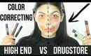COLOR CORRECTING | HIGH END VS DRUGSTORE | SCCASTANEDA