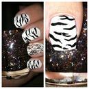 zebra print confetti