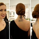 Double Chignon Up Do
