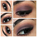 Subtle purple smokey eye