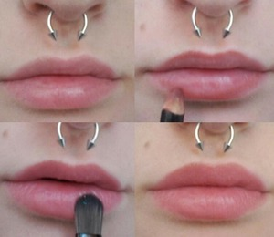 How I do my nude lips.
