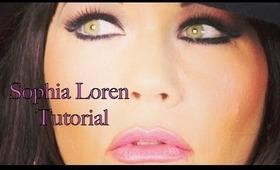 Sophia Loren Makeup Tutorial + Eyeliner and Contouring