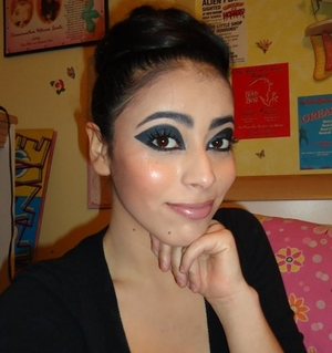 The movie Tron inspired me to do this look because all the girls where perfect looking with perfect glowy skin and dramatic eyes!