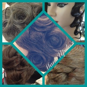 Various mannequin up-do practice.