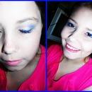 blue and gold with medsua make up