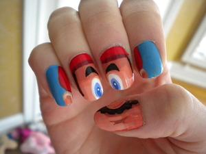 It's a-me, Mario! Nail Art by Nick