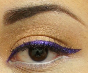 Purple Liner with MAC Glitter