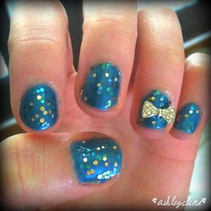My bestie's homecoming nails!