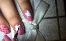 Tutorial Manichiura Ziua Indragostitilor, porumbei/ Valentine's Day tutorial nail art