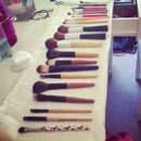 Makeup brush collection!