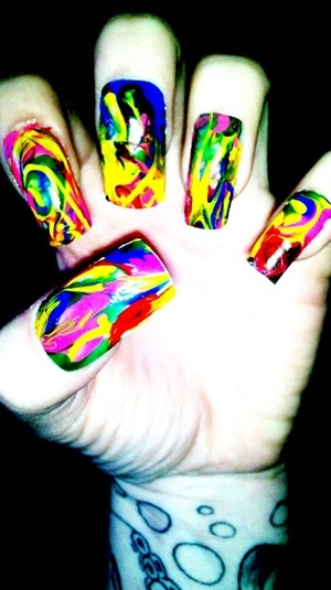 Went crazy with some nail art brushes. Fun!!