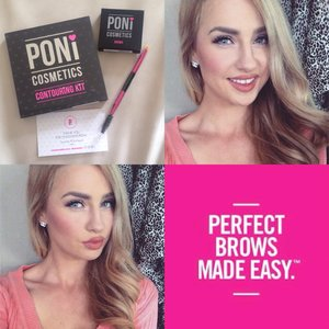 My Makeup today using my new @ponicosmetics contouring kit and Brow powder 💕 I am in love! By far my favourite contour kit on the market at the moment cut my blending time to a couple of seconds! Love love love how they work!