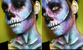 Halloween Series 2017: Galaxy Skull Makeup / Face Paint Tutorial