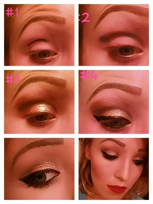 my take on the holiday look work a step by step!