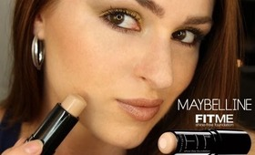 Maybelline Fit Me Shine-Free Foundation Stick Review and Demo