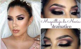 Maquillaje de NOVIA DRAMATICO para NOCHE / DRAMATIC BRIDE makeup tutorial | auroramakeup