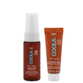 COOLA Gradual Sunless Tan Anti-Aging Face Serum & Dry Oil Mist Kit