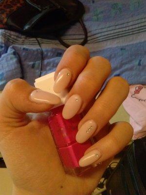 light pink with diamonds