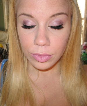 Spring Makeup - Purple Everyday Smokey Eye w/ Pink Lips
