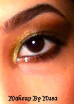 Lime green and gold