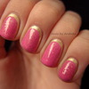 Glitter Golden Ruffian Manicure