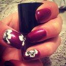 Shellac nails with nail art