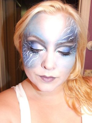 Queen of Lightning Halloween 2010 look. All eyeshadows & eyeliners, no airbrushing here!