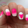 Lovely Pink Gradient & hearts.