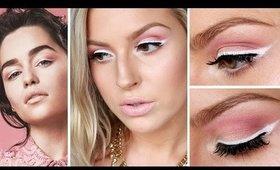 Emilia Clarke Inspired Spring Makeup ♡ White Eyeliner & Pink Eyeshadow