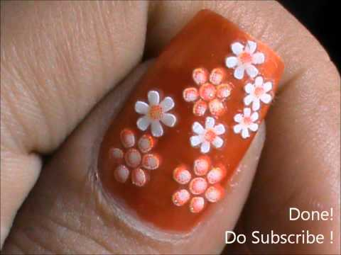 Flower Nail Art Easy Nail Designs For Beginners How To Design Nails