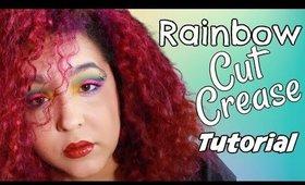 Melt Cosmetics Radioactive Palette Tutorial Rainbow  Cut Crease (NoBlandMakeup)