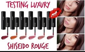FIRST IMPRESSION/ TESTING NEW PRODUCTS - SHISEIDO LACQUER ROUGE HIGH END/LUXURY MAKEUP 2017