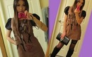 Spring Dolly Outfit Of The Day OOTD (Lace Thigh High leggings & Knee high boots)洋娃娃装