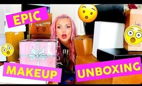 EPIC NEW MAKEUP HAUL UNBOXING FREE MAKEUP | OVER 25 Boxes of Makeup! - KANDEE JOHNSON