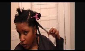 Pin Curl Twist Hair Tutorial