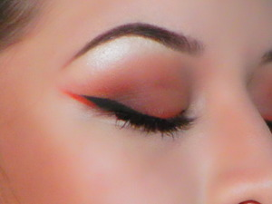 Used some MAC and Sugarpill products to create something orangey :)