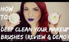 How to: Deep clean your makeup brushes | clean brushes shampoo | demo & review | MRamosMUA