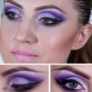 Purple lavender look with glitter