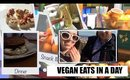 VEGAN EATS IN A DAY (on the go) - Barcelona VLOG